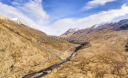 uk scotland aerial view of glen