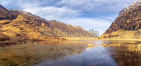 uk scotland panorama of loch achtriochtan