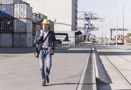 businessman with smartphone and digital tablet