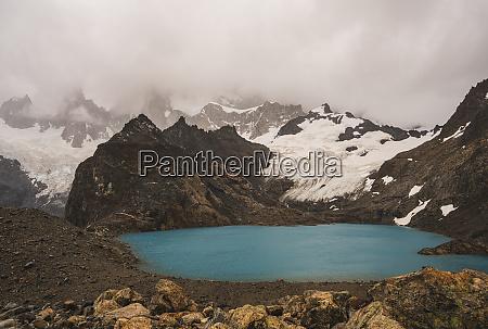 argentina small alpine lake in patagonia