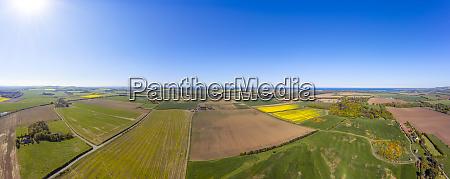 uk scotland aerial panorama of sun