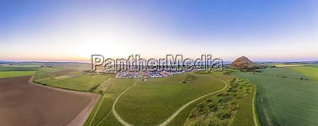 uk scotland north berwick aerial panorama