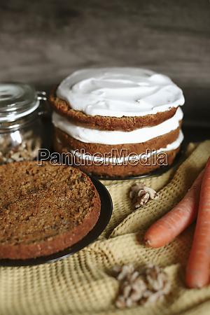 carrot cake preparation