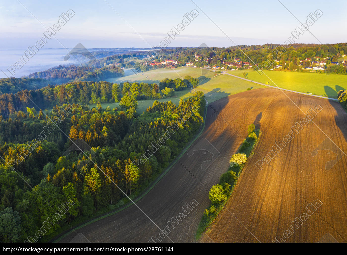 germany, , bavaria, , icking, , drone, view, of - 28761141