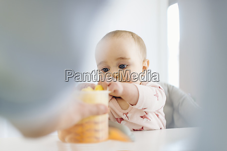 father with baby girl in high