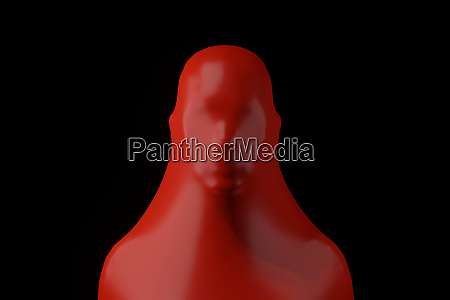 three dimensional render of human head