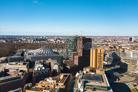 germany berlin aerial view of office