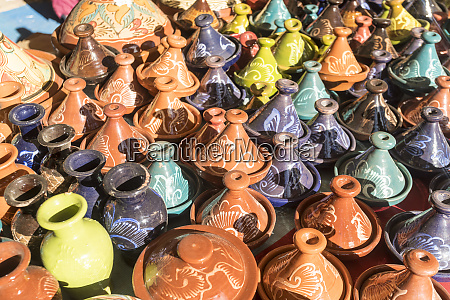decorated pottery sold at bazaar