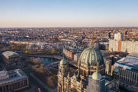 germany berlin aerial view ofberlin cathedralat