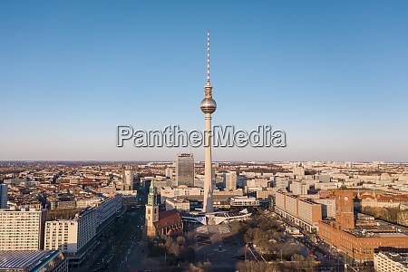 germany berlin aerial view offernsehturmberlin andalexanderplatz