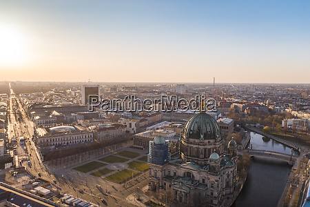 germany berlin aerial view ofberlin cathedral