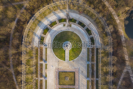 germany berlin aerial view of treptower