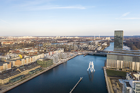 germany berlin aerial view ofmolecule man