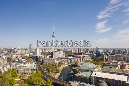 germany berlin aerial view ofbuildings surroundingfernsehturm