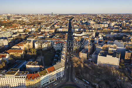 germany berlin aerial view of kreuzberg