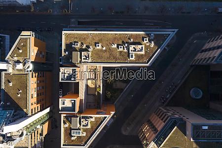 germany berlin aerial view of roof