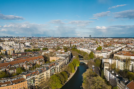 germany berlin aerial view of landwehr