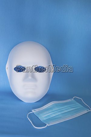 studio shot of theater mask and