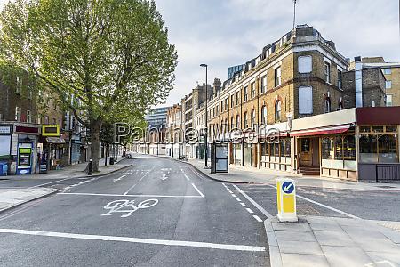uk england london empty city street