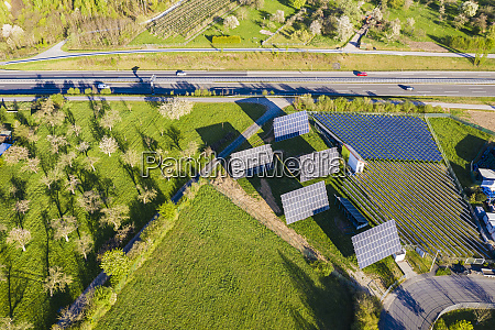 germany baden wurttemberg leutenbach aerial view