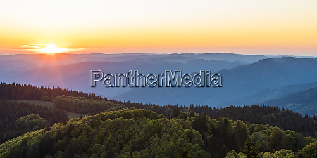 germany baden wurttemberg sunrise over black