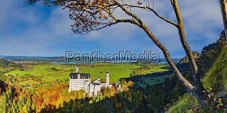 germany bavaria hohenschwangau panorama of neuschwanstein