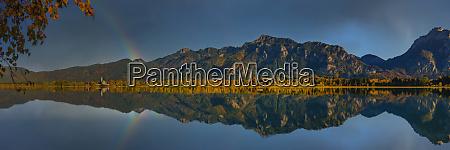 germany bavaria hohenschwangau panorama of mountains