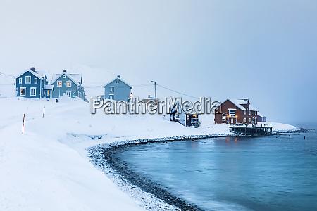 fishing settlement in winter kongsfjord berlevag