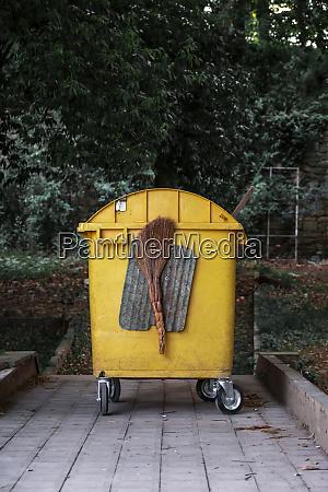 georgia imereti kutaisi yellow garbage bin