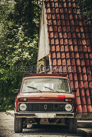 georgia red vintage car