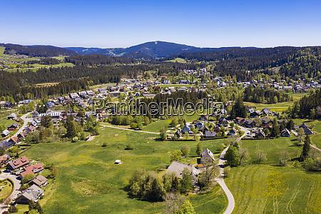 germany baden wurttemberg hinterzarten aerial view