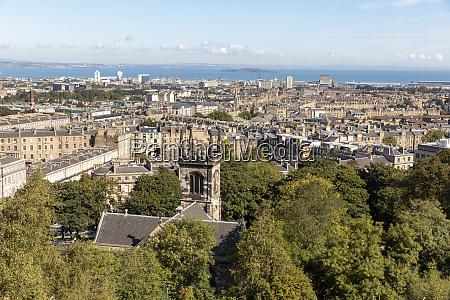 uk scotland edinburgh view of city