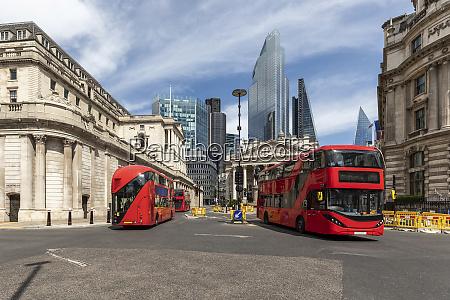 uk london red double decker busses