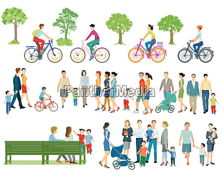 individuals and families in leisure time