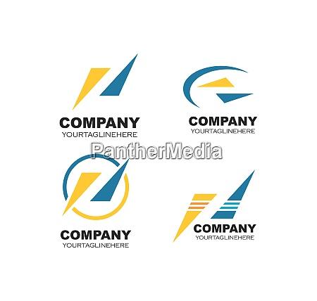 abstract logo icon of company vector