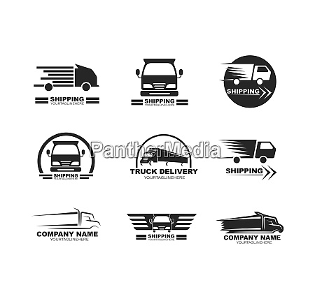 truck icon logo vector illustration design