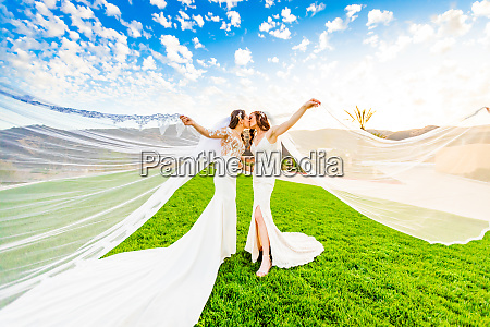 newlyweds first look post wedding ceremony