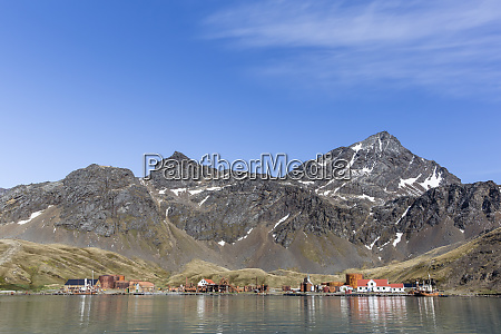 the abandoned norwegian whaling station at