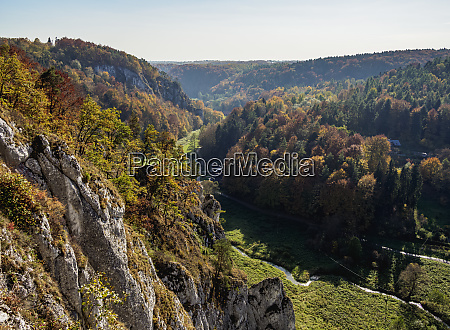 autumn in pradnik river valley ojcow