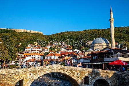 stone bridge prizren kosovo europe