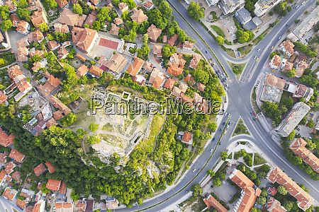 aerial view by drone of ruins
