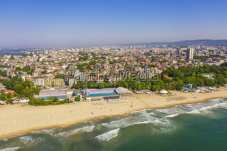 aerial view by drone varna bulgaria