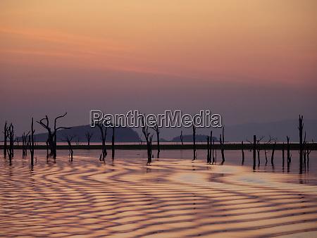 sunset over lake kariba the worlds