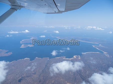 aerial view of lake kariba the