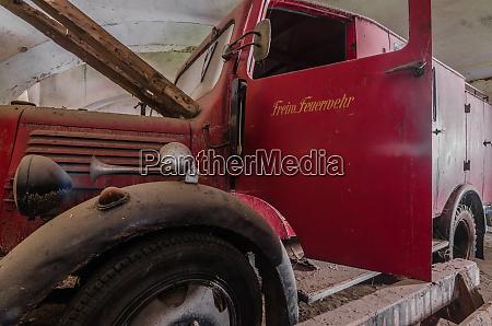 car of volunteer fire department