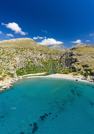 aerial photo by drone of preveli