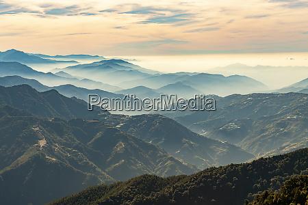 hazy picturesque highlands of nantou county