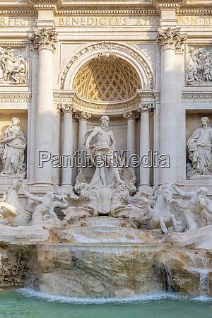 trevi fountain oceanus statue rome lazio