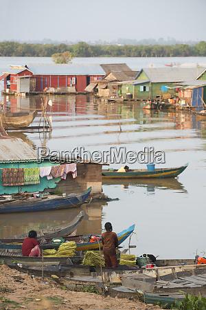floating village cambodia indochina southeast asia