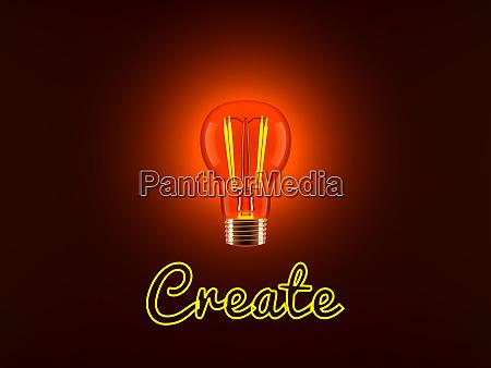 light bulb and create